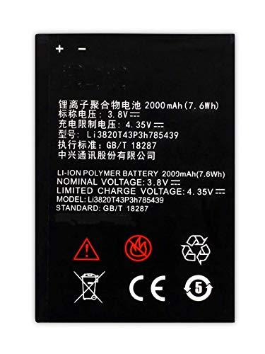 Bateria Compatible con ZTE Blade L3 / ZTE Blade L3 Dual Sim / 2000mAh / Li3820T43P3h785439