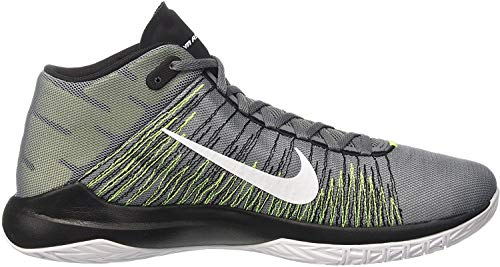 Nike Men's Zoom Ascention Cool Grey/White/Volt/Black Ankle-High Fabric Running Shoe - 11M