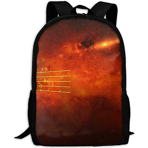 Hdadwy Bookbag,Flowing Flying Stream Music Notes Adult Travel Backpack School Casual Daypack Oxford Outdoor Laptop Bag College Computer Shoulder Bags