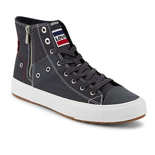 Levi's Mens Zip EX Mid Olympic Casual Fashion Zipper Sneaker Shoe, Navy, 13 M