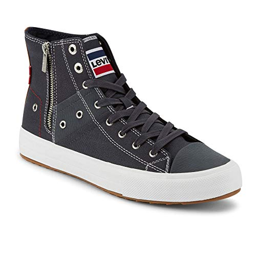 Levi's Mens Zip EX Mid Olympic Casual Fashion Zipper Sneaker Shoe, Navy, 13 M