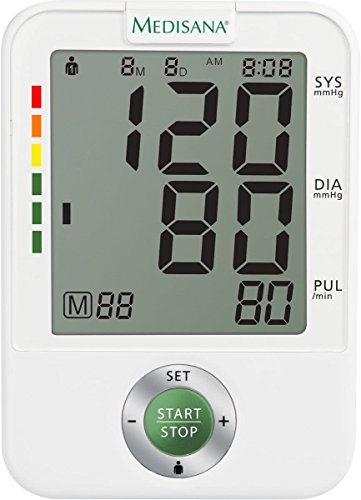 Medisana 51172 Oberarm-Blutdruckmessgerät BU A50, weiß