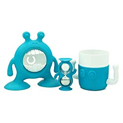 PLAYFUL - Brings fun to building healthy bathroom habits EASY - Makes personal hygiene easy and fun STAYS PUT - Super suction bases stick to most surface COMPLETE SET - Tap extender, cup, timer, toothbrush and paste holder DISHWASHER SAFE - Top shelf...