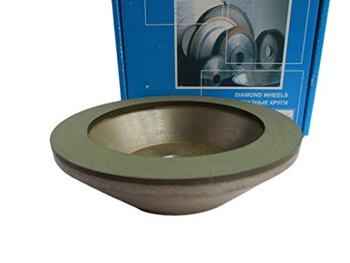 Dia 6 inch (150x20mm.) Hole 1.26' (32mm.) Width: 0.8' (20mm.) Type: 12A2-45 Cup Tool Diamond Grinding Wheel for Carbide (160/125 Micron (120 Grit))