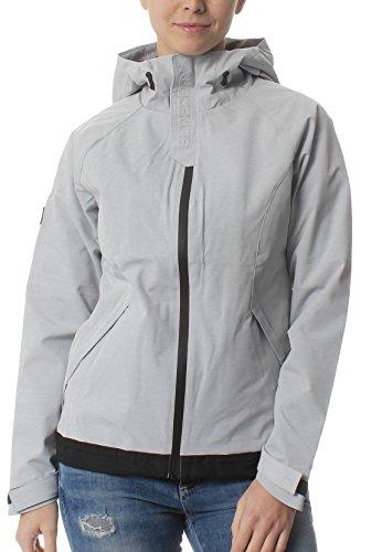 Superdry Jacke Damen Elite Windcheater Light Grey Marl Black, Größe:M