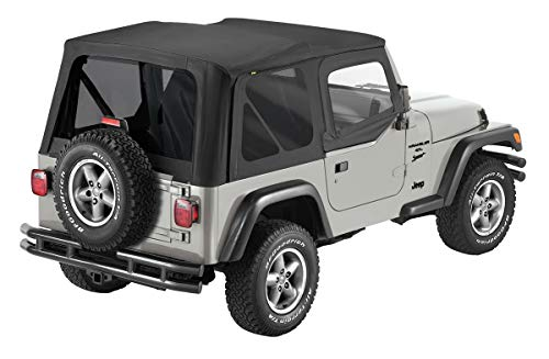 Pavement Ends by Bestop 51197-35 Black Diamond Replay Replacement Soft Top Tinted Back Windows w/Upper Door Skins for 1997-2006 Jeep Wrangler