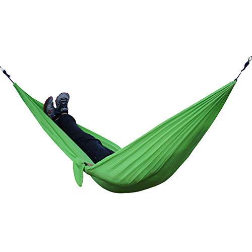 Hamaca De Camping Al Aire Libre Portátil De Tela De Nailon Multifunción Doble Jardín para Dormir Al Aire Libre con Mosquetón Y Cuerdas 40