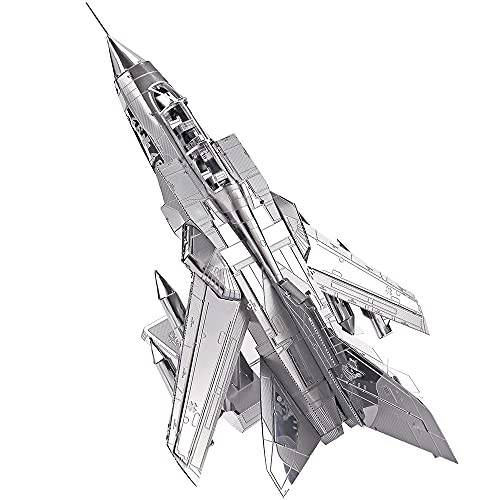 Piececool Metal Modell 3D Puzzles-Tornado Fighter Jets-Metal Modellbausatz für Erwachse