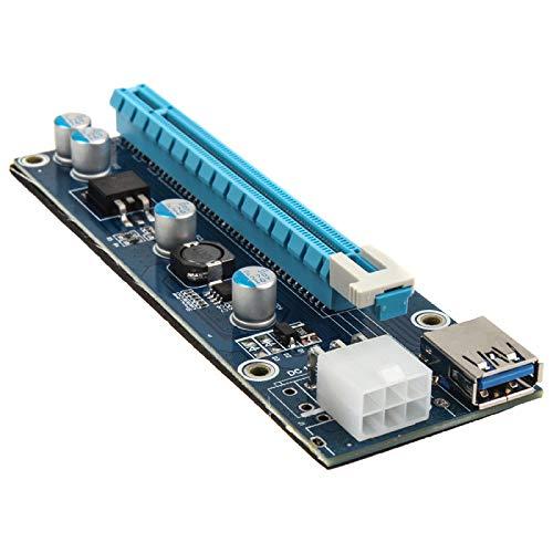KOLINK PCI-E 1x bis 16 x 1M Bitcoin-Karten-Riser-Mining- / Rendering-Kit mit 80-cm-Grafik-Vertikalhalterung Mini-Halterung Computerzubehör Molex-Anschluss-Motherboard