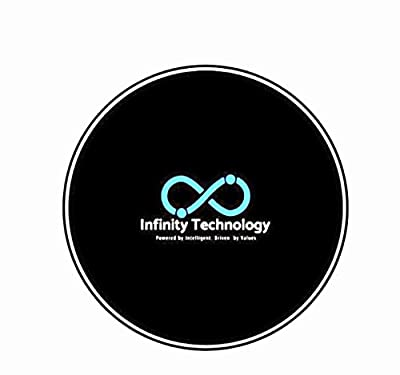 Newest 2020 Cell Phone Universal Wireless Qi 10w Fast Charger -Smart Home Gadget Healthy Living - NO Radiation Fast Smart Charging Dock Non-Slip LED Night Light, Surge Protection, Temperature Control by Infinity Technology