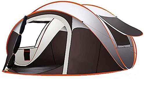 Zelt 5-8 Personen Wasserdicht, Pop Up Zelte Familienzelt [5 Fenster] Riesiges Camping Zelt Doppelwandig Wurfzelt Shelter 8-Mann Zelt Mit Vorraum Für Outdoor Sport Picknick Wandern Reisen Strand