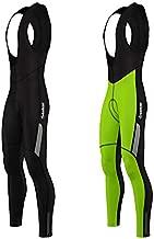 Zimco Men Cycling Bib Tight Windproof Thermal Bicycle Bib Pant Padded (XL, Neon Green)