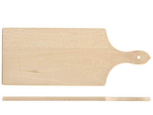 Home Wood Tagliere con Manico, Legno, Beige