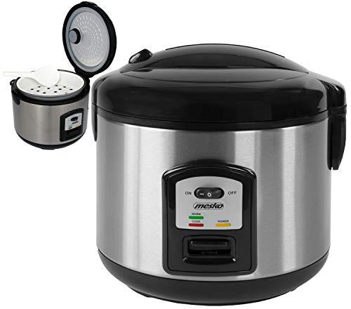 Reiskocher | 1,5 Liter | 1000 Watt | Multikocher | Reis Kocher | Edelstahl | Reis Kochtopf | Warmhaltefunktion | Automatische Abschaltfunktion