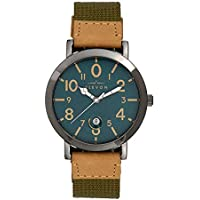 Elevon Mach 5 Quartz Beige Canvas Gunmetal Men's Watch with Date