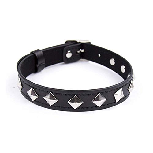 CHEERSTORE Pre-Fashion Special Toys B`D`S-M PU Leather Collar Choker St`ra`PS Boňdàgé with Lock Chain Detachable Leash
