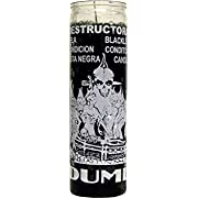 7 Day Glass Black List Dume Candle - Black