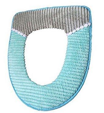 Lyuboov Cord asiento grueso de WC, asiento impermeable, peluche, caliente, cojín de inodoro acolchado