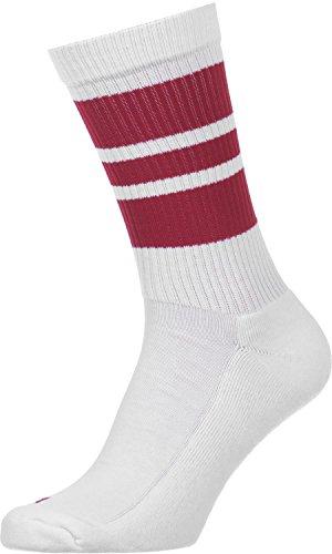 Spirit of 76 The cherry Cherrys | Retro Socken Weiß, Rot gestreift | knöchelhoch | Unisex Strümpfe Size M (39-42)