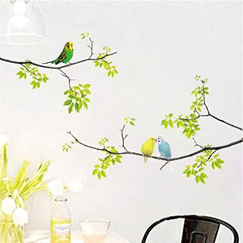 Terilizi 1 Muursticker Vogel afpellen van de boom en vasthouden aan de verse verwijderbare muursticker Kinderslaapkamer 20X70Cm