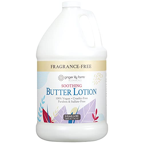 Ginger Lily Farm's Botanicals Soothing Butter Lotion, Fragrance-free Gallon, 128 Ounce