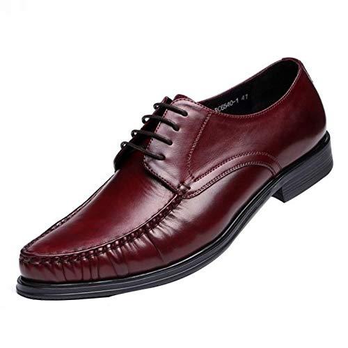 YFZD Oxford Brogues herenschoenen wijnrood lederen band business jurk schoenen 44 EU bordeauxrood (wine red)