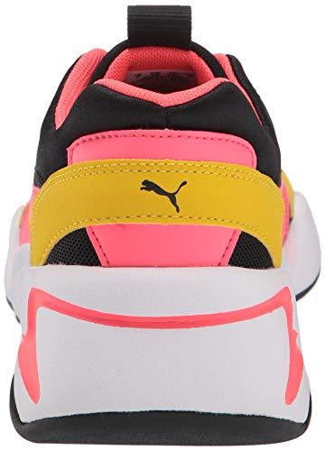 PUMA Girls' NOVA Sneaker, Black-Sulphur, 6.5 M US Big Kid