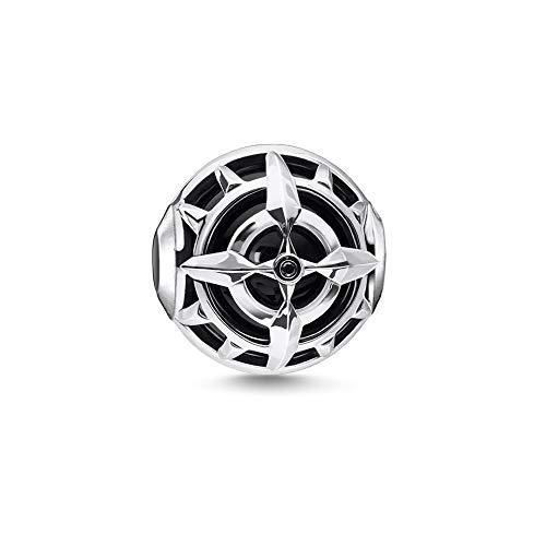 Thomas Sabo Damen-Bead Kompass schwarz 925 Sterlingsilber K0335-641-11