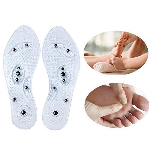 KOBWA Akupressur Einlegesohlen, Magnet Therapie Massage Einlegesohlen, Schmerzlinderung Health Care Magnetische Einlegesohlen für Frauen und Herren
