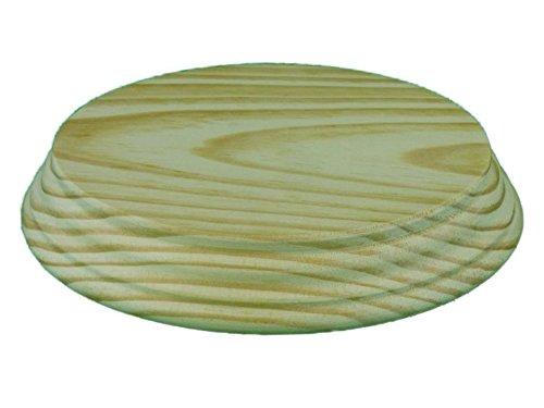 Peana madera redonda. En madera de pino macizo, torneado. En crudo, se puede pintar. (Diámetro 15 cms)