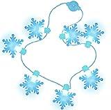 FUTUREPLUSX Light Up Snowflake Necklace, Christmas Light Necklace LED String Lights Winter Frozen Snowflake Decorations