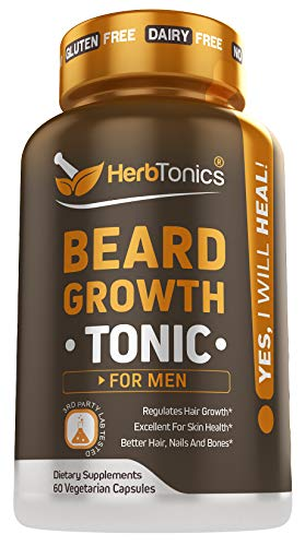 HerbTonics - Beard Growth Vitamins Supplement For Men