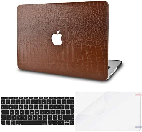 KECC Laptop Case Compatible with MacBook Air 13 w Keyboard Cover Italian Leather Case Screen product image