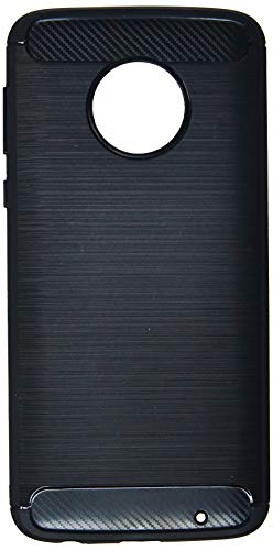 Capa Carbon Fiber para Moto G6 Plus, iWill, BCF MG6 PLUS BK, Preta