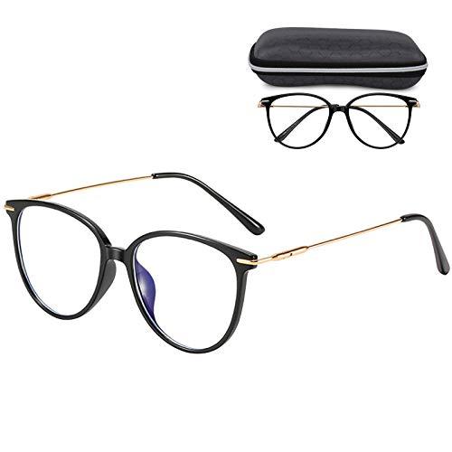 Brillenfassungen, hicoosee Blaue Licht Blockieren Brille, Super Leicht Anti-blaue Brillen für Männer und Frauen, Schwarz