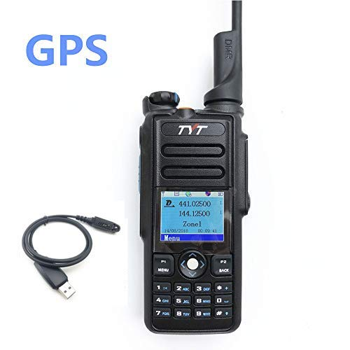 TYT MD-2017 DMR Dual Band Digital Handheld Two Way Radio Transceiver with Programming Cable & GPS
