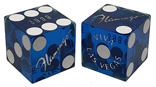 Cyber-Deals Matching 19mm Craps Dice Pair Lake Tahoe Harrahs Authentic Nevada Casino Table-Played Dice Yellow Polished