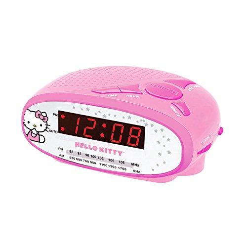 Hello Kitty AM/FM Alarm Clock Radio KT2051B (Pink)