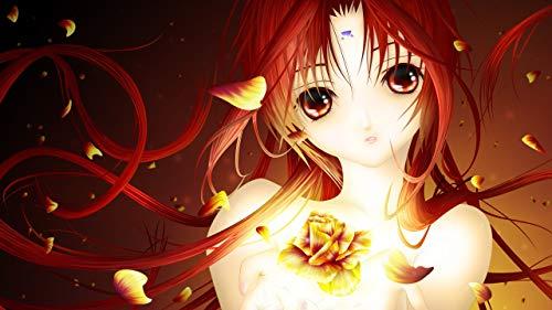 keletop 1000 Piezas de Madera Puzzle_Smiling Girl Anime Wallpaper_Puzzle Juego de Juguete de Montaje de Regalos para niños_50x75cm