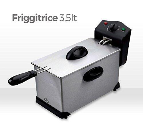 Friggitrice 3,5 lt DCG 2000 Watt con termostato regolabile e pentola antiaderente removibile FR2759. MWS