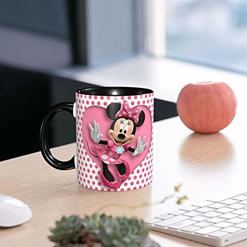 Minnie Mouse - Taza de café de cerámica con asa personalizada, diseño de panadería, 330 ml