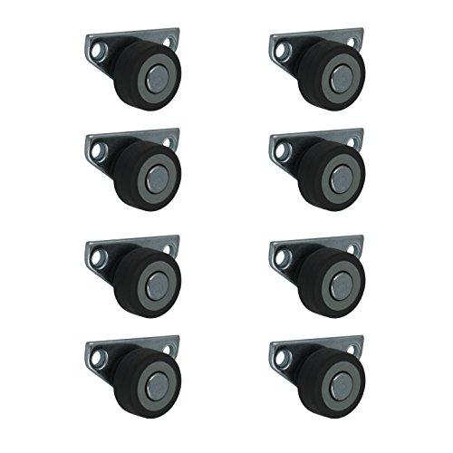 8 Stück 30 mm Kastenrollen Bettkastenrollen Kastenbockrollen Seitenrollen mit Softrad