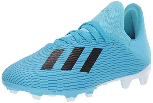 adidas Unisex-Kid's X 19.3 Firm Ground Soccer Shoe, Bright Cyan/Black/Shock Pink, 5 M US Big Kid