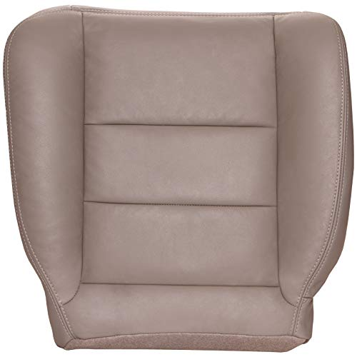 The Seat Shop Driver Bottom Replacement Leather Seat Cover - Medium Pebble Tan (Flare Seam) (Compatible with 2005-2007 Ford F250 and F350 Super Duty Lariat Extended Cab) -  C-F250X-07-MPEB-FLR-D