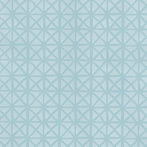 ecosoul Wachstuch Wachstischdecke Wachstuchtischdecke Andy Pastel Mint türkis blau Schutzdecke Leinen Prägung Breite 140cm Länge wählbar (100 cm)