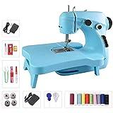 Amouhom Macchina da cucire elettrica portatile multifunzione con pedale fai da te, materiali per la casa per bambini, per bambini e ragazze