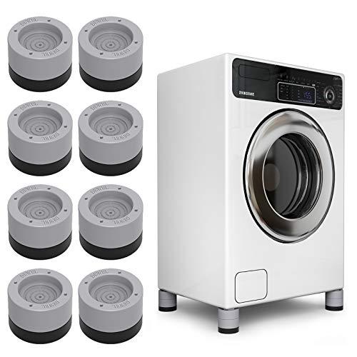 Seisso Amortiguador de Vibraciones para Lavadoras 8pcs, Pies para Lavadora Secadora, Muebles Lavadora Altura ajustable Antideslizante, reducir ruido y vibración