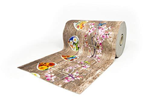 BIANCHERIAWEB Tappeto Passatoia Antiscivolo con Stampa Digitale Dis. Cuori Appesi Primavera 50x140 Cuori Appesi Primavera