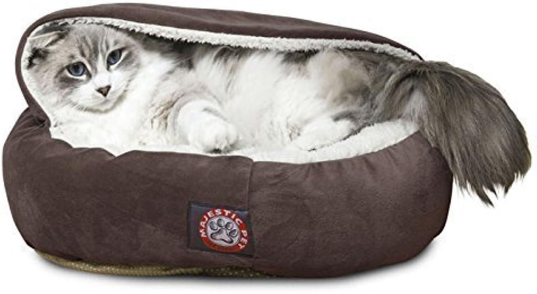 Majestic Pet Micro-Baldac no da letto in velluto, motivo   animali, 45 cm, Coloreeee  cioccolato, da Majestic Pet