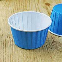 BEESCLOVER 100 Pcs/lot Paper Muffin Cupcake Paper Muffin Cases Cake Cup Stand Mold Kitchen Oven Baking Tools Blue One Size